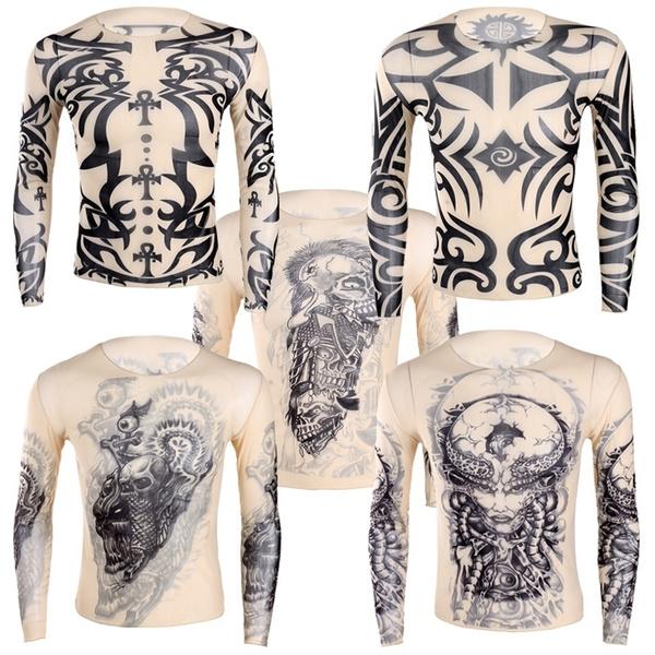 tattoo, Fashion, Men's Fashion, Breathable