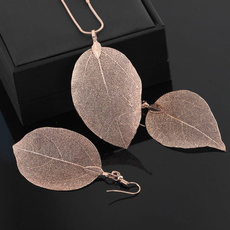 Steel, Chain Necklace, leaf, Jewelry