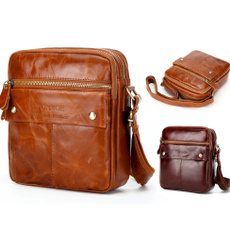 brown, Outdoor, genuine leather bag., business bag