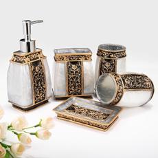 golden, Bathroom, soapholder, spraybottle