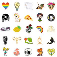 Goth, Fashion, Pins, clothespin