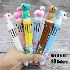 Kawaii, cute, School, flamingo