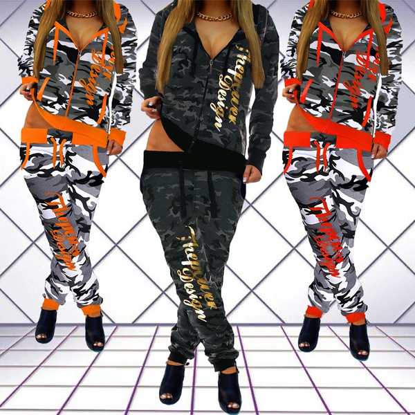 womensportssuit, women jogging suit, womencamouflagejacket, womencamouflagesuit