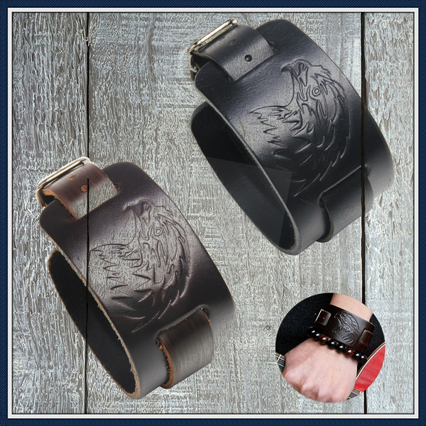 Bracelet, Wristbands, Mens Accessories, leather