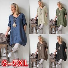 blouse, Plus Size, Shirt, solid color