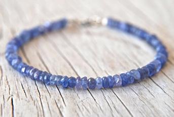 Beaded Bracelets, Jewelry, gemstonestackingbracelet, tanzanite