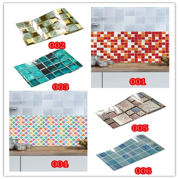 antioilwallpaper, bathroomdecor, Kitchen & Home, Waterproof