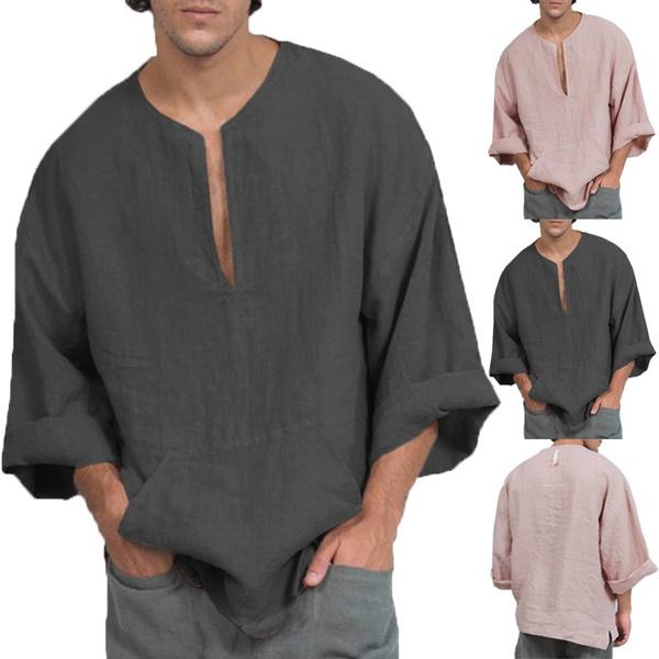 sleeve v-neck, men shirt, Fashion, Sleeve