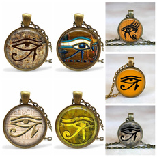 egyptianjewelry, egyptianpharaoh, wedjateye, Necklaces Pendants