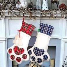 plaid, Christmas, Gifts, Gift Bags