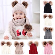 babykidshat, Fashion, fur, crochethat