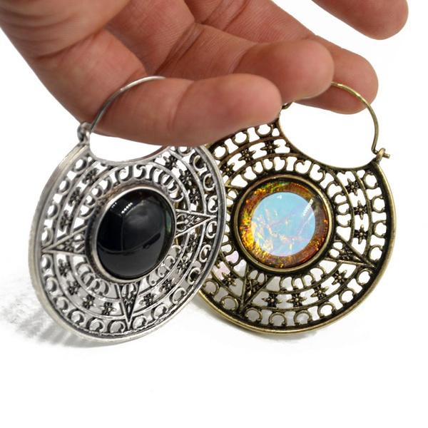 Brass, Hoop Earring, Dangle Earring, Jewelry