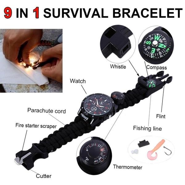 Multifunctional tool, flintfirestarter, hikingcampingcompa, Jewelry