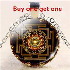 geometrynecklace, Chain Necklace, mandalanecklace, glassdome