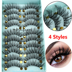 False Eyelashes, fullstrip, crosslashe, fluffy