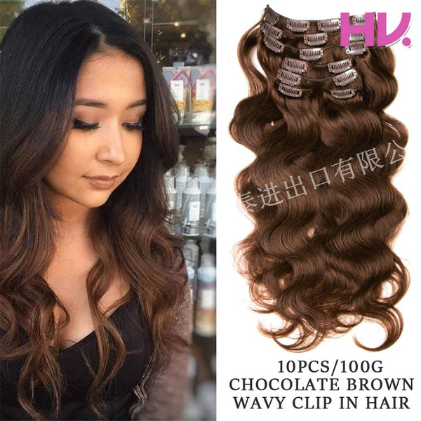 brown, womensfashionampaccessorie, Clip, human hair