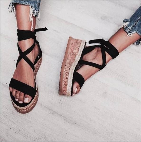 wedge, Sandals, Women Sandals, Lace