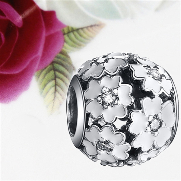 charmsforbracelet, jewelry stores, Flowers, 925 sterling silver
