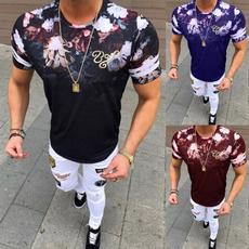 Summer, Plus Size, men's cotton T-shirt, Sleeve