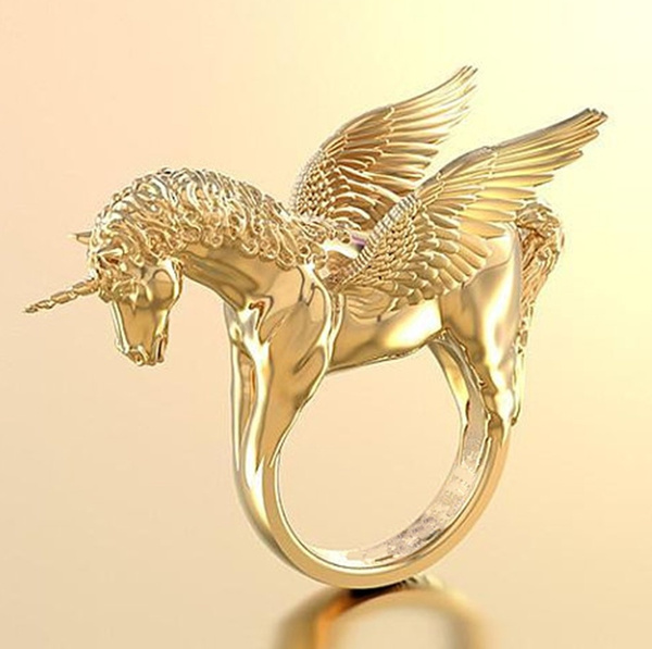 horsering, yellow gold, horse, Fashion