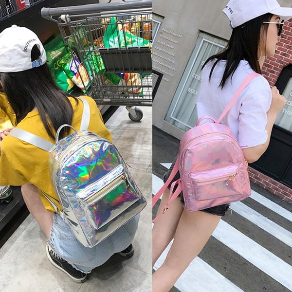 travel backpack, School, Holographic, Laser