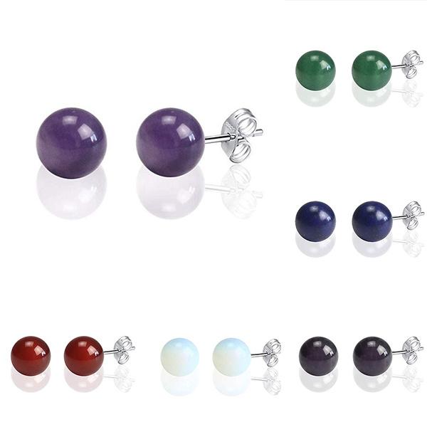 Stud, Fashion, Gemstone Earrings, healingcrystal