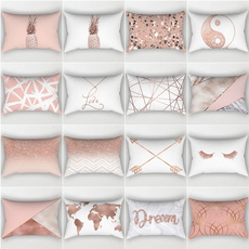 pink, geometricpillowcover, Home Decor, pillowcasescotton