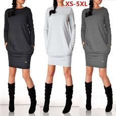 Plus Size, sweater dress, Winter, Dresses
