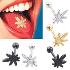 Fashion, leaf, Jewelry, tonguepiercing