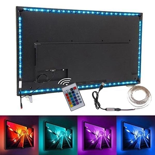 Television, LED Strip, Remote, usb