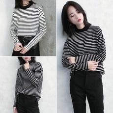 Spring Fashion, Women, korea, Cotton T Shirt