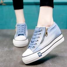 Summer, Sneakers, Lace, denimshoe