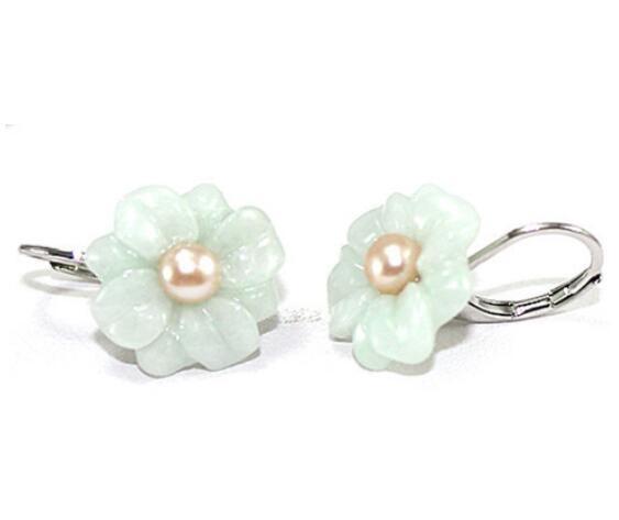 Flowers, Dangle Earring, Jewelry, jade