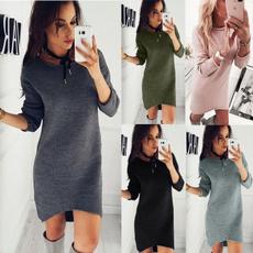 cute, Plus Size, Long Sleeve, Dress