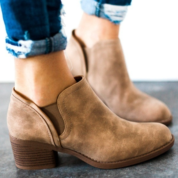 ankle boots, casual shoes, Plus Size, Leather Boots