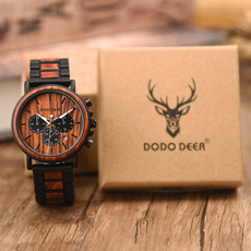Steel, watchformen, woodstrapwatch, Fashion