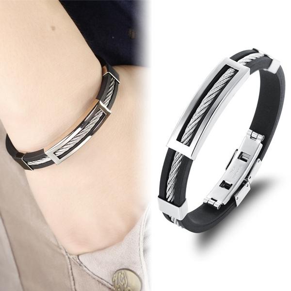 Steel, Men, Christmas, bracelets for couple