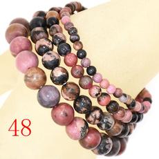 pink, 8MM, Yoga, pinkblackrhodonite