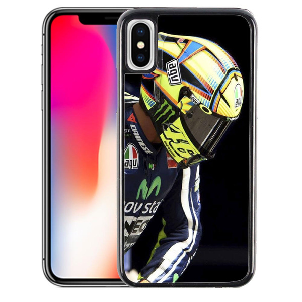 Coque iPhone XR Pilote Moto GP Valentino Rossi 46 | Wish
