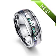 Steel, 8MM, Love, Jewelry