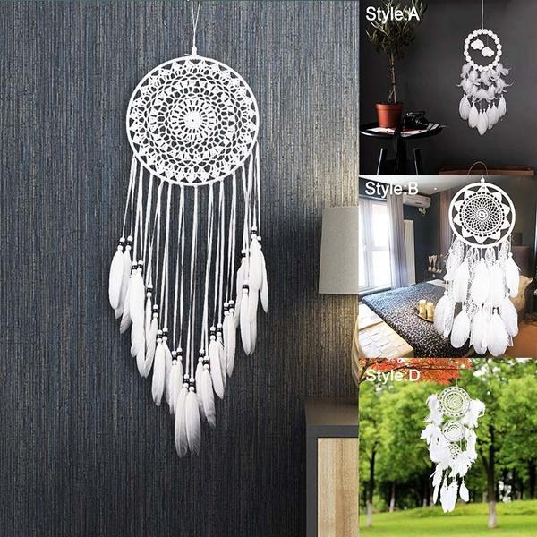 Beautiful, bedroomdecoration, Home Decor, whitedreamcatcher