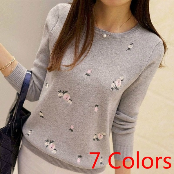 Fashion, Floral print, sweaters for women, Winter