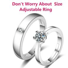 Steel, DIAMOND, Women Ring, 925 silver rings