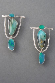 Sterling, Turquoise, 925 sterling silver, Stud