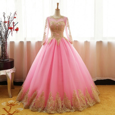 pink, gowns, Sweet Dress, Sleeve