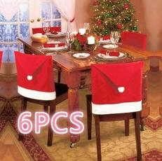 chaircover, dinnerchairset, Christmas, santachaircover