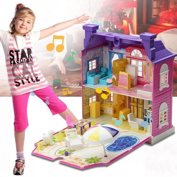assemblingdollhouse, Toy, toyhouse, doll
