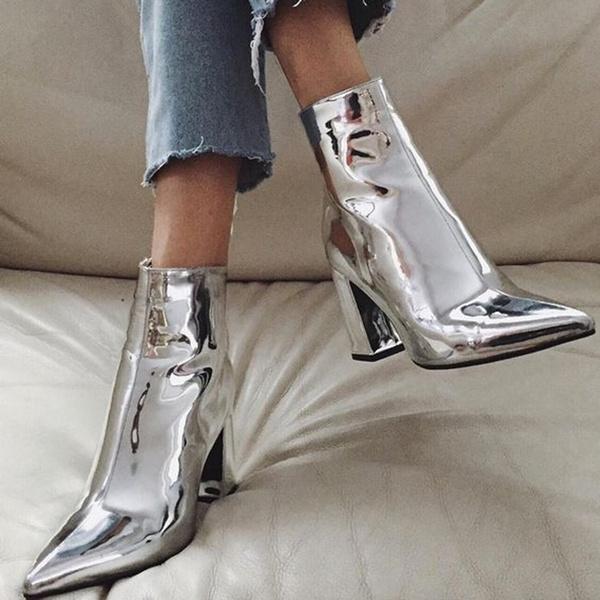 platformboot, Womens Shoes, Jewelry, gold