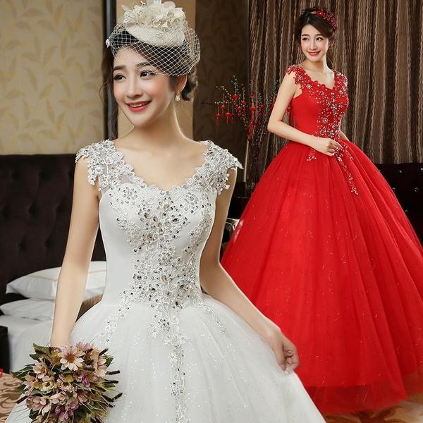 gowns, whiteweddingdre, Lace, Dress