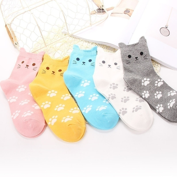 cute, womensock, Fashion, catpattern